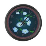 Morning Glory Large Wall Clock