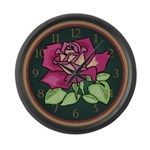 English Rose Large Wall Clock