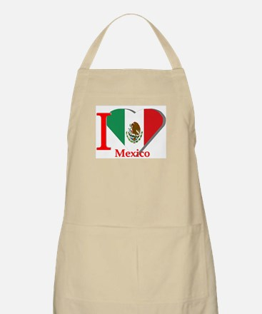 I love Mexico BBQ Apron
