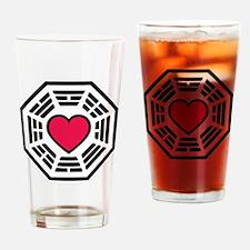 lovedharma2BLK Drinking Glass
