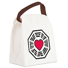 lovedharma2BLK Canvas Lunch Bag