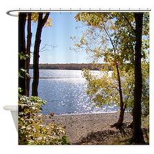 Lake View Scenery Shower Curtain