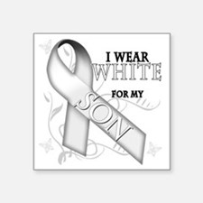 "I Wear White for my Son Square Sticker 3"" x 3"""