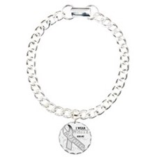I Wear White for my Moth Charm Bracelet, One Charm