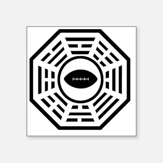 "dharmafootball Square Sticker 3"" x 3"""