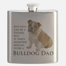 Bulldog Dad Flask
