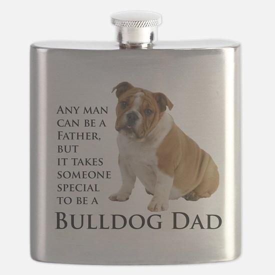 Bulldog Dad Flask