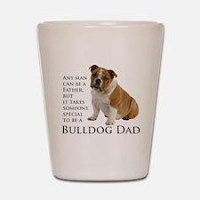 Bulldog Dad Shot Glass