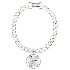 I Wear White for my Wife Charm Bracelet, One Charm