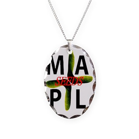 maplseeds Necklace Oval Charm