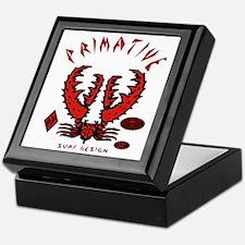 CRAB RED ON BLACK Keepsake Box
