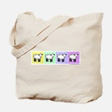 Wobbly Lamb Row Pop Art Tote Bag