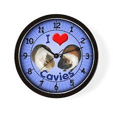I Love Cavies Wall Clock