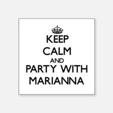 Keep Calm and Party with Marianna Sticker