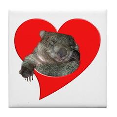 Wombat Love Tile Coaster