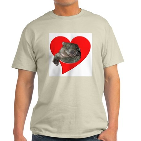 Wombat Love Ash Grey T-Shirt