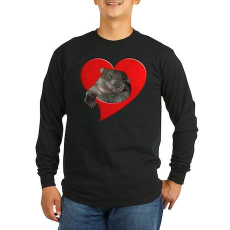 Wombat Love Long Sleeve Dark T-Shirt