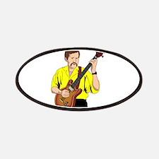 guitar player male semi hollowyellow shirt Patches