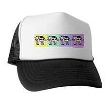 Wobbly Cow Pop Art Row Trucker Hat