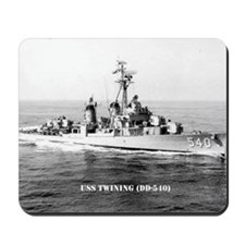 twining note card Mousepad