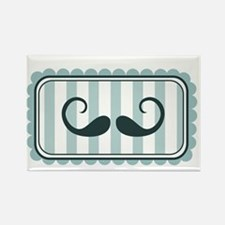 Blue Stripes Mustache Magnets