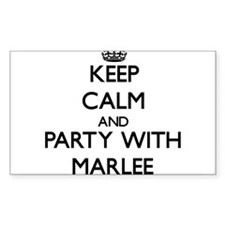 Keep Calm and Party with Marlee Decal