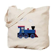 train age 3 blue black Tote Bag