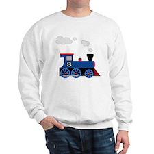 train age 3 blue black Sweatshirt