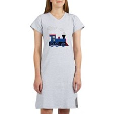 train age 3 blue black Women's Nightshirt