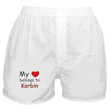 My heart belongs to korbin Boxer Shorts