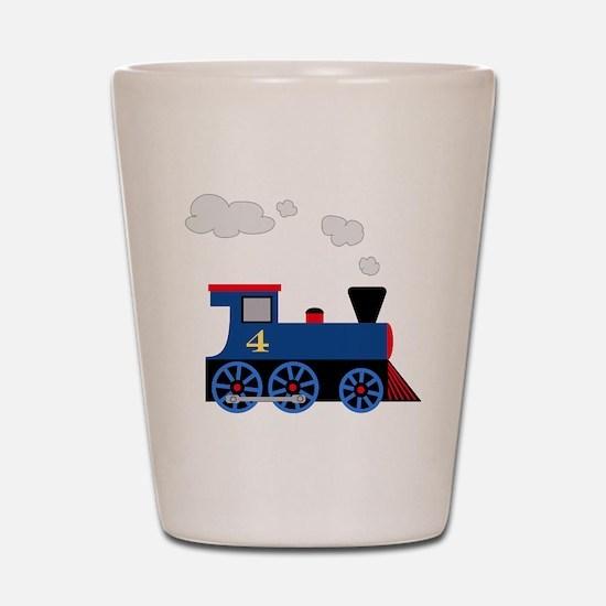 train age 4 blue black Shot Glass