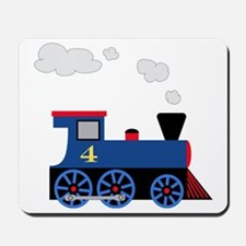 train age 4 blue black Mousepad