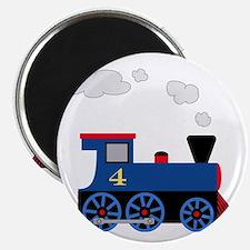 train age 4 blue black Magnet