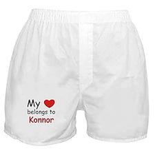 My heart belongs to konnor Boxer Shorts