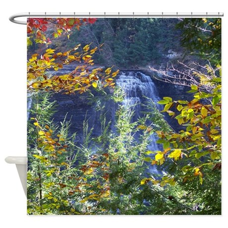 Scenic Water Fall Shower Curtain By Naturewildlifeartgifts