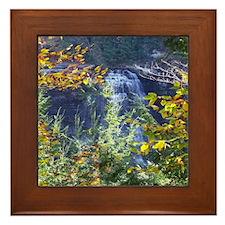Scenic Water Fall Framed Tile