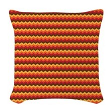 Chevron Thanksgiving Fall Woven Throw Pillow