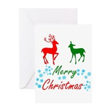 Merry Christmas Reindeer Greeting Cards