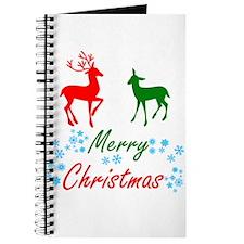 Merry Christmas Reindeer Journal
