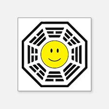 "3-happydharma2WHT Square Sticker 3"" x 3"""