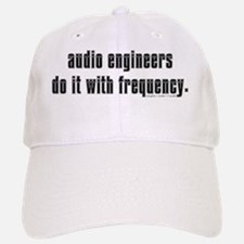 audio eng impossible font shirt Baseball Baseball Cap