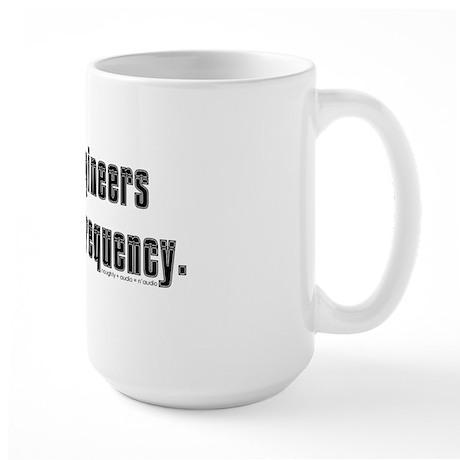 audio eng impossible font shirt Large Mug