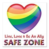 Lgbt ally Square Car Magnets