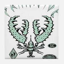 SUNSET SHRIMP PROOF MINT Tile Coaster
