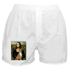 Mona Lisa - Basenji Boxer Shorts