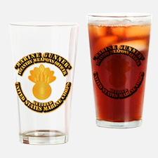 USMC - Marine Gunner - Retired Drinking Glass