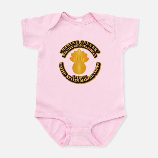 USMC - Marine Gunner - Retired Infant Bodysuit