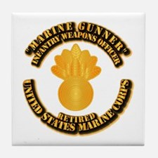 USMC - Marine Gunner - Retired Tile Coaster