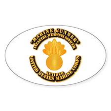 USMC - Marine Gunner - Retired Decal