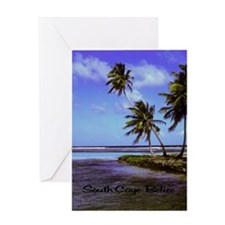 South Caye Belize 23x35 Greeting Card